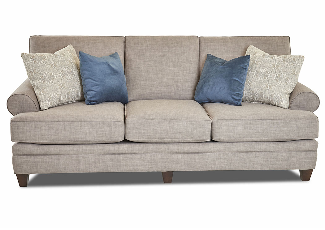 Fresno Stone Stationary Fabric Sofa,Klaussner Home Furnishings