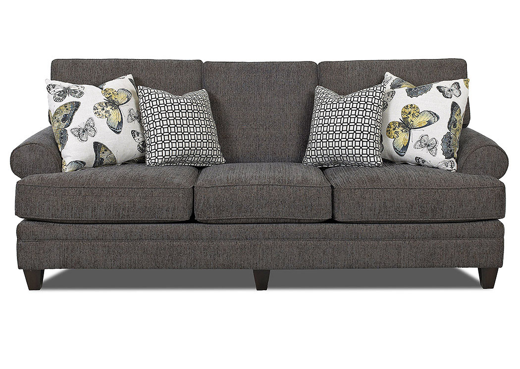 Fresno Gray Stationary Fabric Sofa,Klaussner Home Furnishings