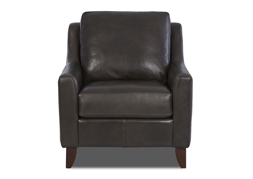 Belton Abilene Steel Leather Stationary Chair,Klaussner Home Furnishings