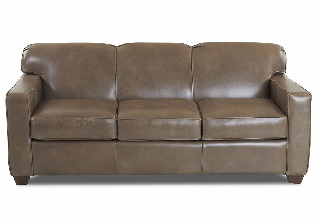 Gillis Abilene-Smoke Leather Sleeper Sofa,Klaussner Home Furnishings