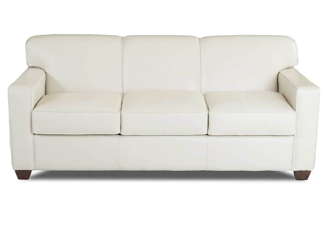Gillis Oatmeal Leather Sleeper Sofa,Klaussner Home Furnishings