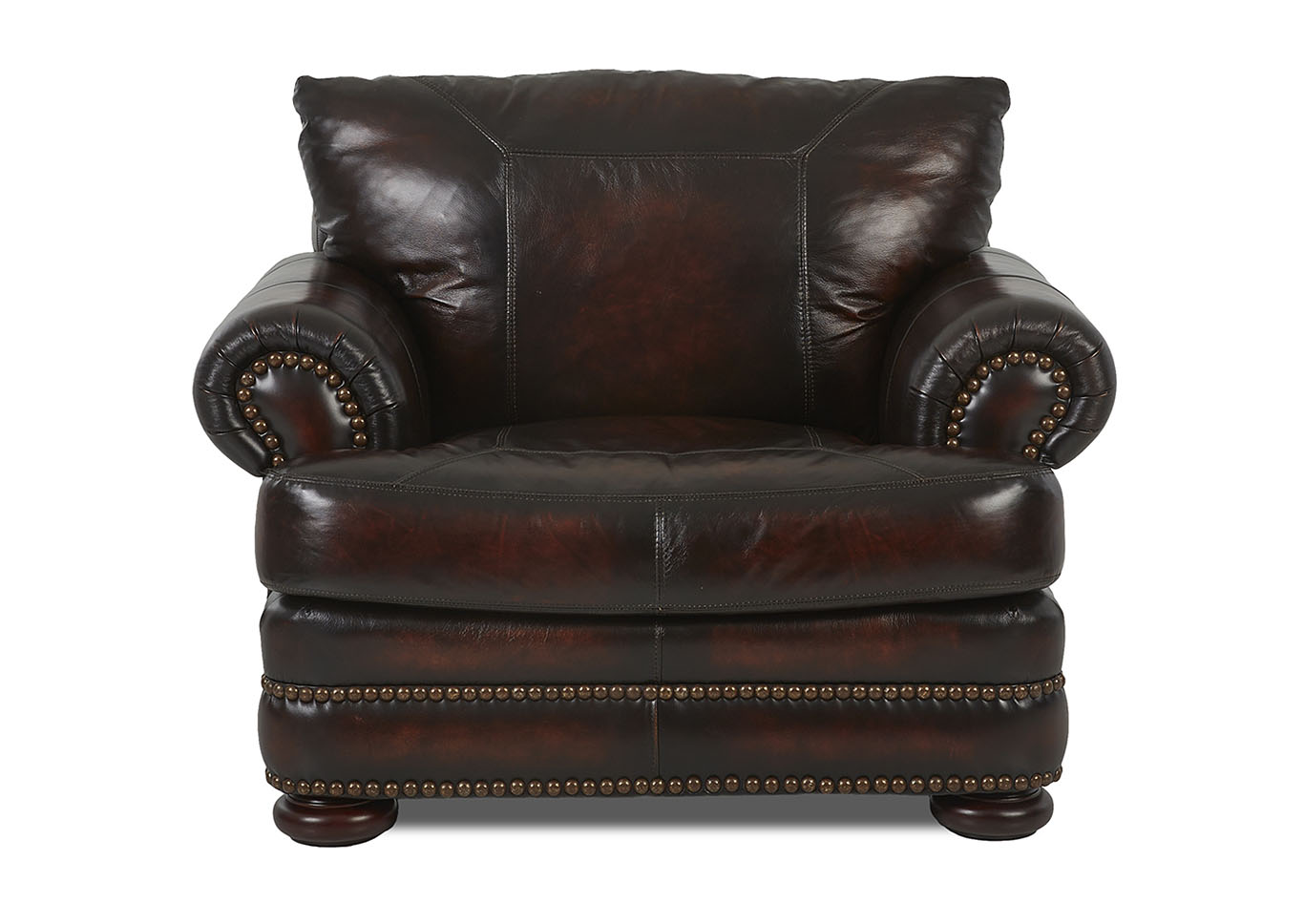 Montezuma Leather Stationary Chair,Klaussner Home Furnishings