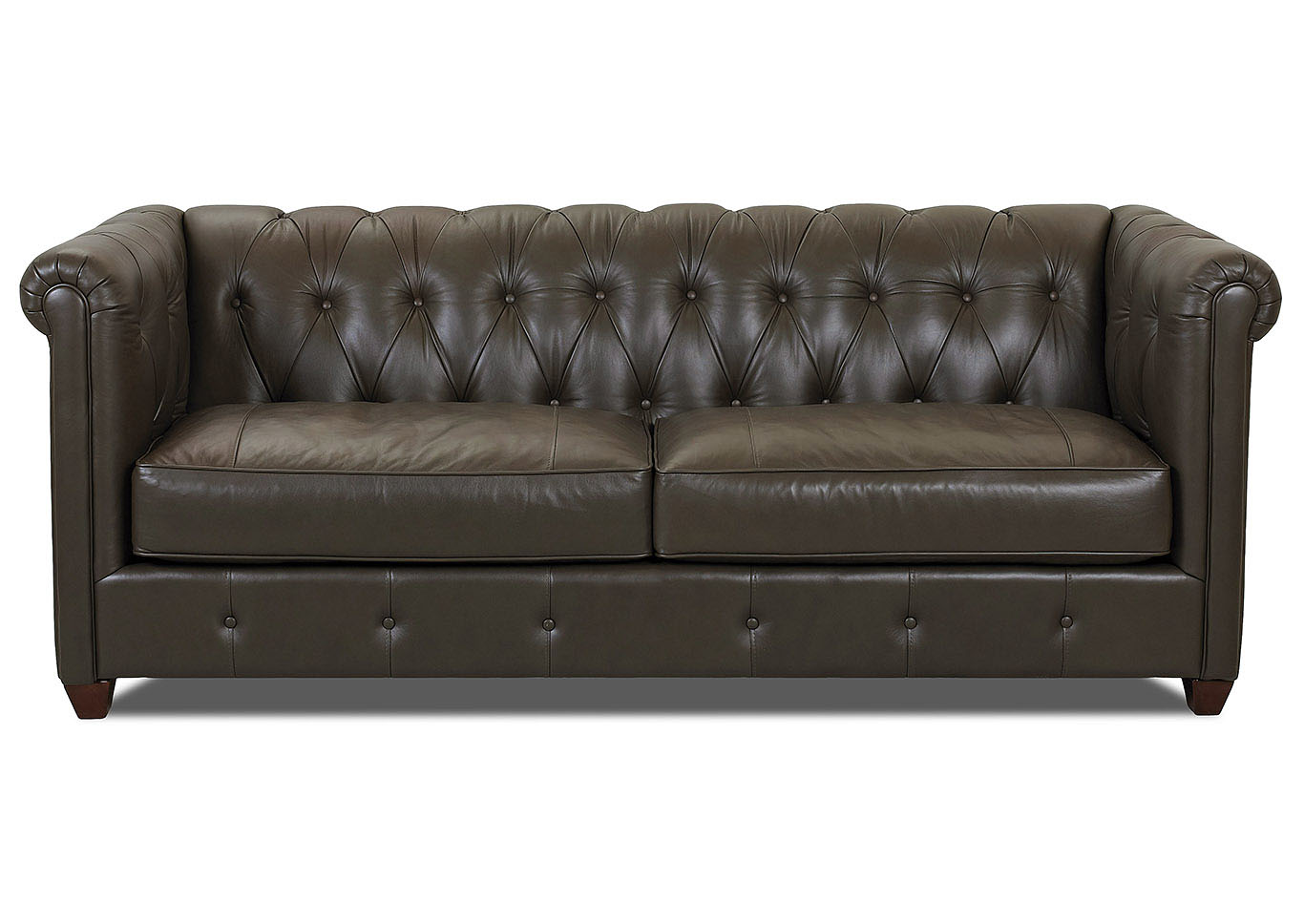 Beech Mountain Leather Stationary Sofa,Klaussner Home Furnishings
