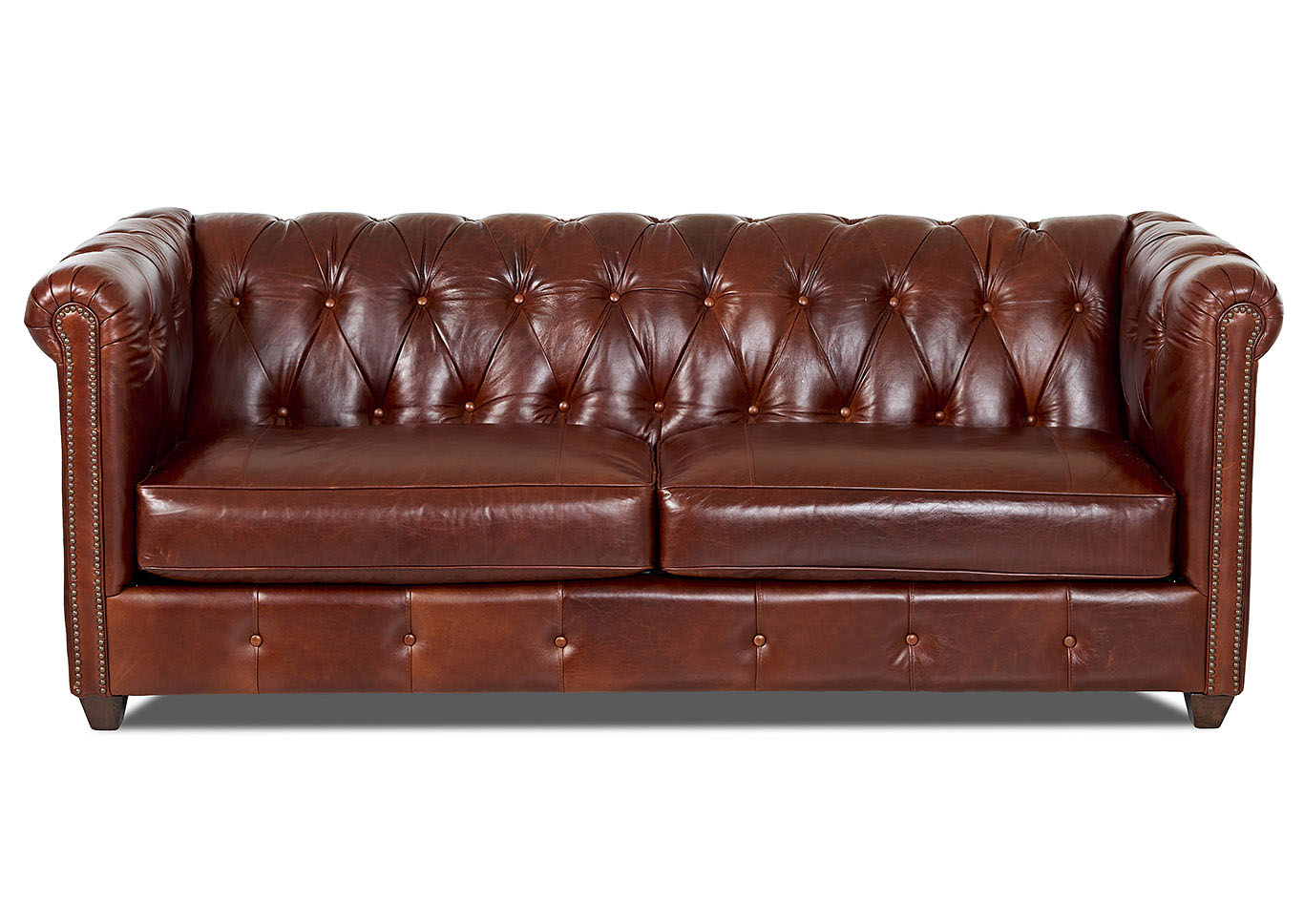 Beech Mountain Africa Notte Leather Stationary Sofa,Klaussner Home Furnishings