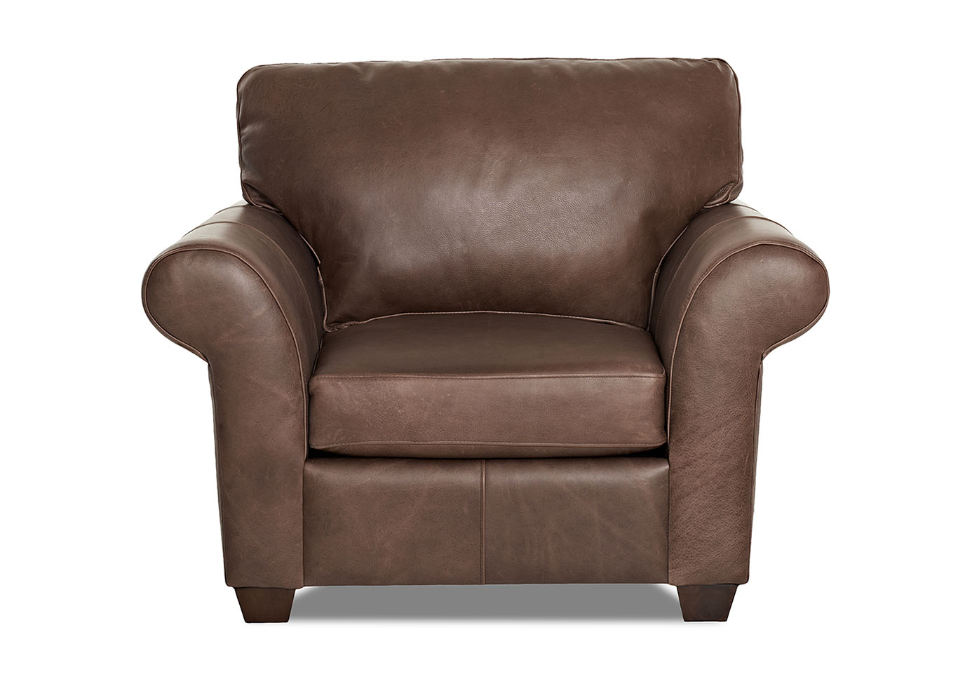 Moorland Leather Stationary Chair,Klaussner Home Furnishings
