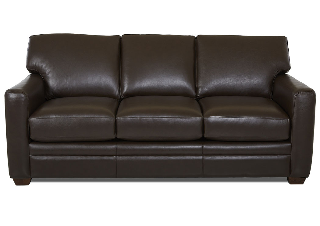 Fedora Durango Espresso Leather Sleeper Sofa,Klaussner Home Furnishings