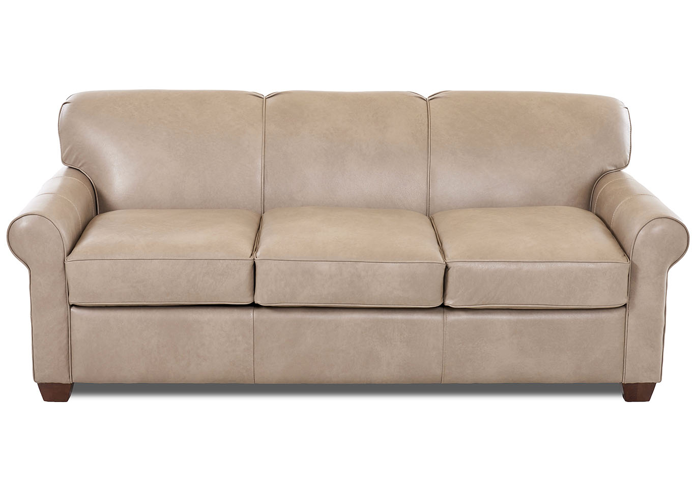 Mayhew Steamboat Putty Brown Leather Sleeper Sofa,Klaussner Home Furnishings