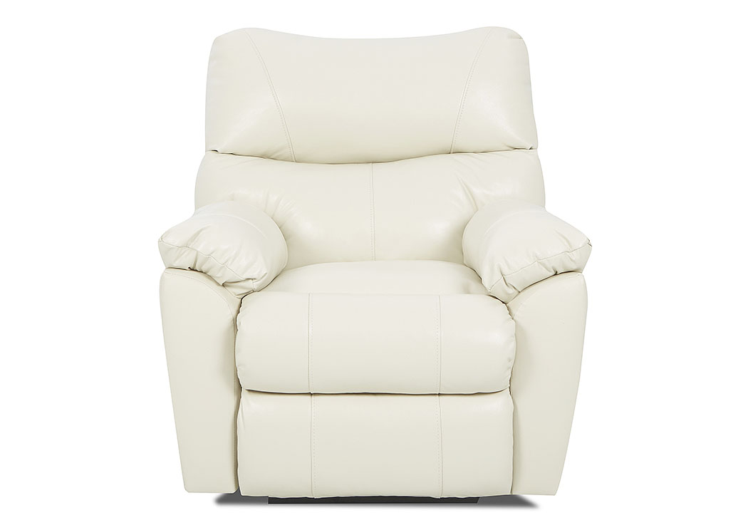 Odessa Durango Oatmeal Power Reclining Leather & Vinyl Chair,Klaussner Home Furnishings