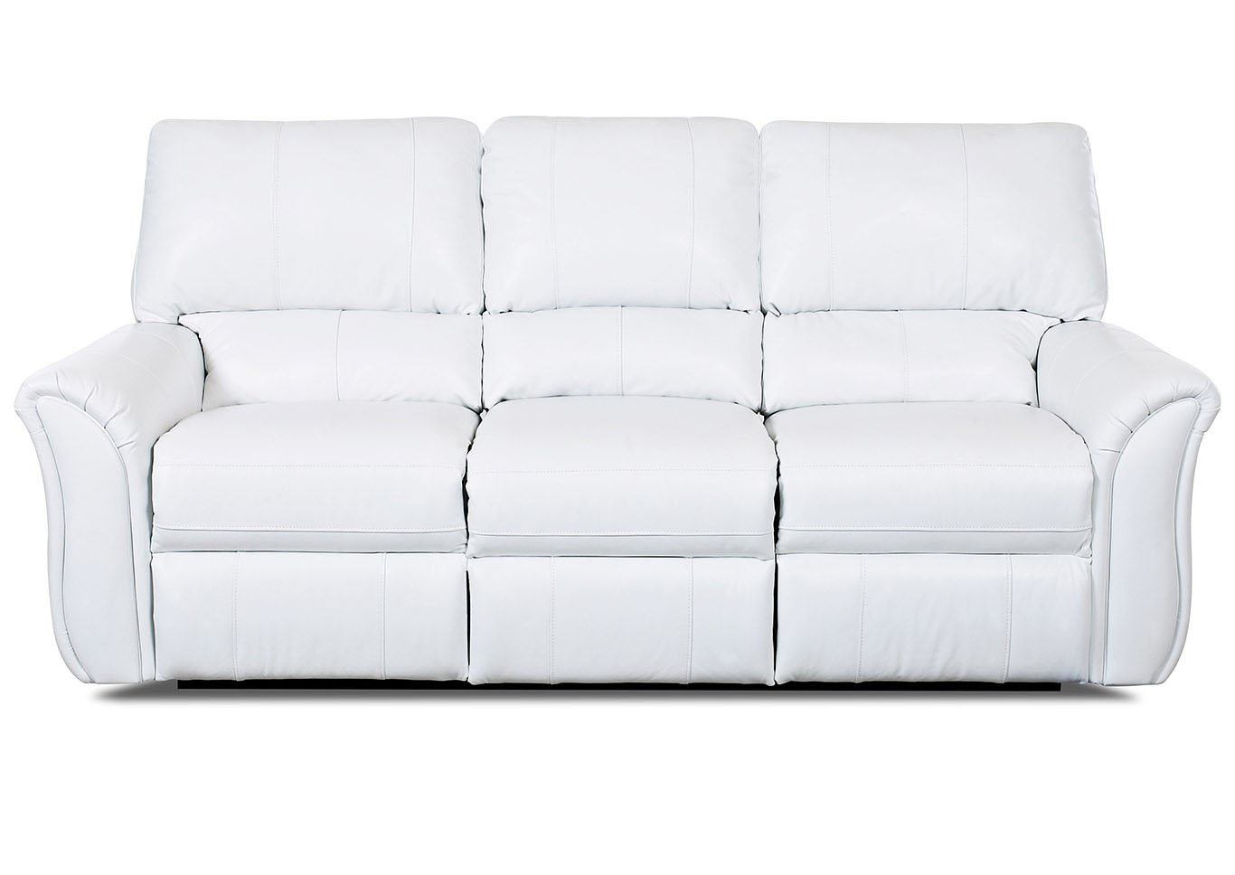 Marcus White Reclining Leather & Vinyl Sofa,Klaussner Home Furnishings