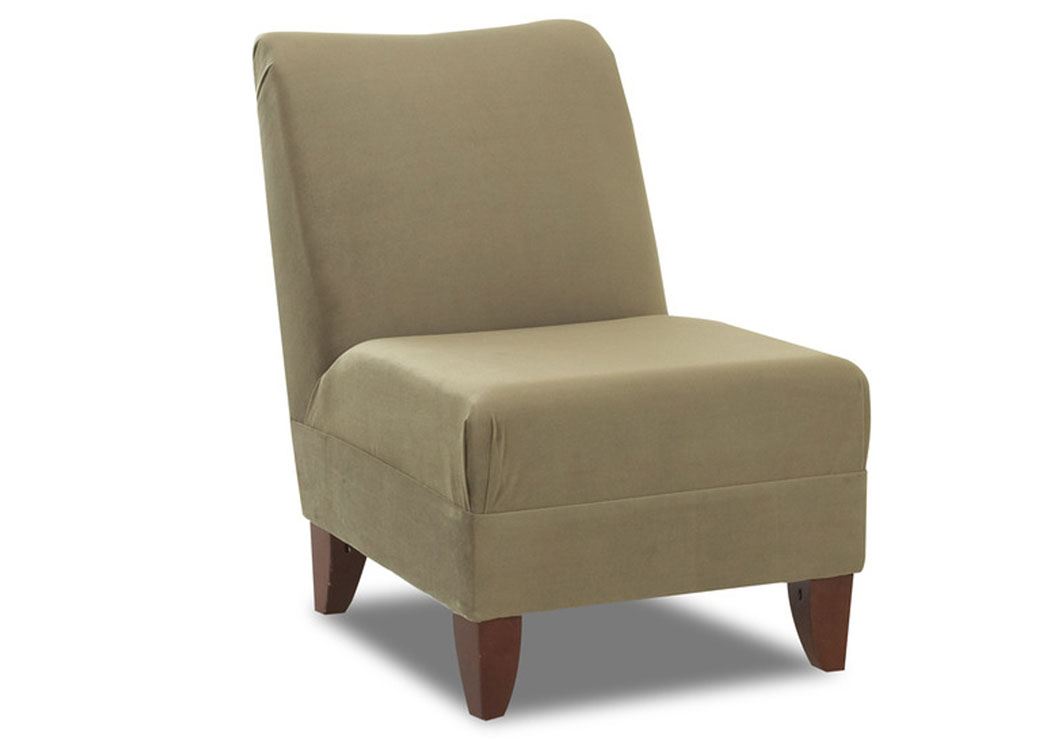 Linus Olive Armless Chair,Klaussner Home Furnishings