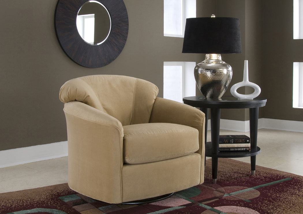 Taupe Swivel Glider,Klaussner Home Furnishings