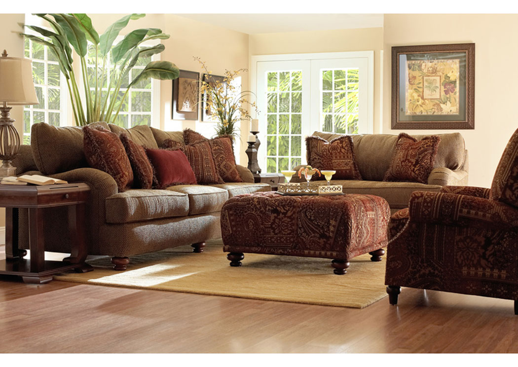 Walker Parchment Sofa,Klaussner Home Furnishings