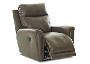 Image for Priest Beige Fabric & Leather Reclining Chair