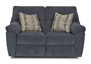 Image for Odessa Ashanti Lapis Reclining Fabric Loveseat