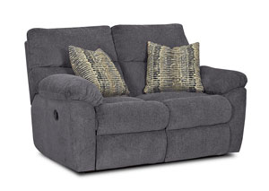 Image for Odessa Blue Sterling Reclining Fabric Loveseat