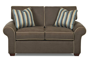 Image for Patterns Halo Grain Stationary Fabric Loveseat