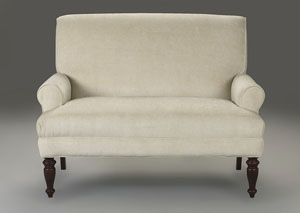 Image for Teasdale Luca Natural Stationary Fabric Loveseat