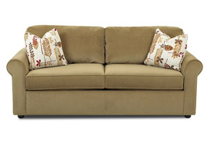 Brighton Light Brown Sleeper Fabric Sofa