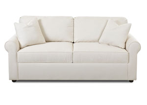 Image for Brighton Bull Natural White Stationary Fabric Sofa