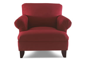 Sheldon Red Stationary Fabric Chair