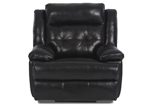 Image for Zeus Jupiter Black Reclining Fabric Chair