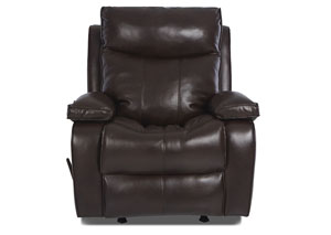Image for Wilson Jupiter Chocolate PU Leather Rocking Reclining Chair