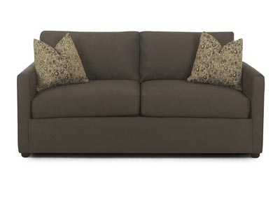 Jacobs Cocoa Stationary Fabric and Leather Sofa