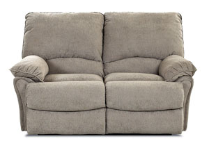 Weatherstone Takeoff Sage Brown Reclining Fabric Loveseat