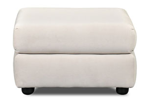 Possibilities Belshire Buck Beige Stationary Fabric Ottoman