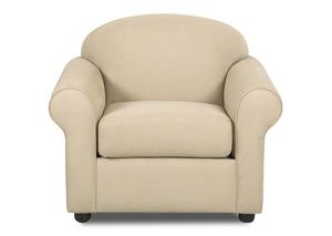 Possibilities Fastlane Oatmeal Beige Stationary Fabric Chair
