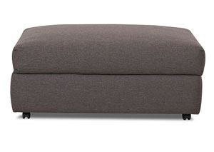 Possibilities Hayden Antelope Brown Stationary Fabric Storage Ottoman