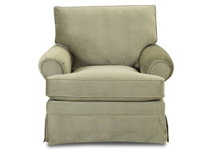 Carolina Belshire Taupe Stationary Fabric Chair