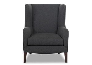 Polo Brookside Charcoal Stationary Fabric Chair