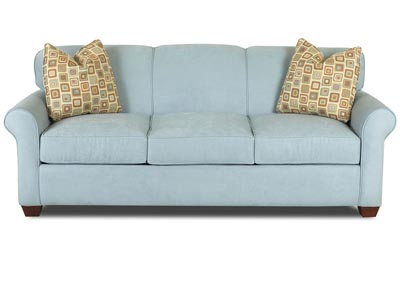 Mayhew Sky Blue Stationary Fabric Sofa