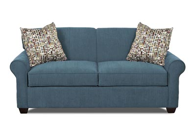 Mayhew Teal Sleeper Fabric Sofa