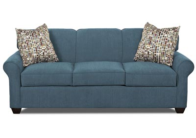 Mayhew Teal Stationary Fabric Sofa