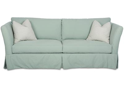 Alexis Stationary Teal Fabric Sofa
