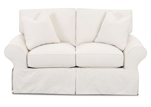 Patterns Bull Natural Stationary Fabric Loveseat