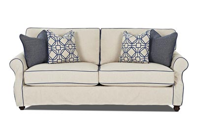 Tifton Trixie Linen Stationary Fabric Sofa