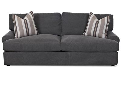 Adelyn Tibby Pewter Stationary Fabric Sofa