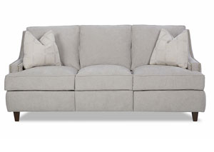 Empress Edwin Grey Reclining Fabric Sofa