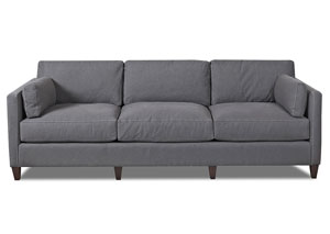 Jordan Classic Grey Stationary Fabric Sofa