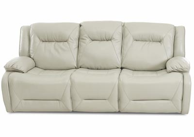 Dansby Jupiter Fog Power Reclining Leather Sofa