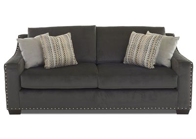 Argos Empire Charcoal Stationary Fabric Sofa