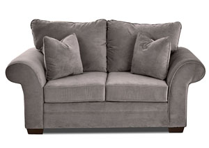 Holly Tina Asphalt Gray Stationary Fabric Loveseat