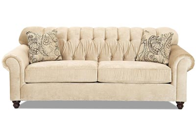 Sinclair Ecru Stationary Fabric Sofa