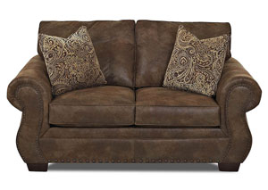 Blackburn Stag Tobacco Stationary Fabric Loveseat