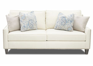 Emmy Tupelo Pearl Stationary Fabric Sofa