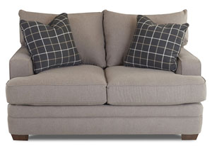 Chadwick Expert Mink Stationary Fabric Loveseat