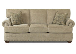 Cliffside Deluxe Platinum Stationary Fabric Sofa